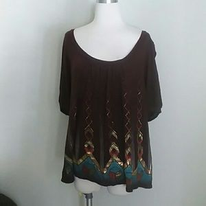 One clothing goldpattern blouse